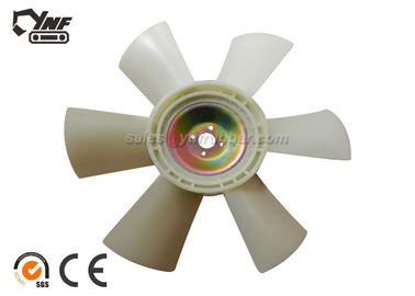 Durable CAT E320 320B 320C Plastic Cooling Fan Six Blade For Excavator CAT Engine